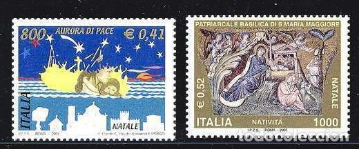 NAVIDAD391 ITALIA 2001 NUEVO ** MNH FACIAL (Sellos - Temáticas - Navidad)