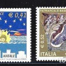Sellos: NAVIDAD391 ITALIA 2001 NUEVO ** MNH FACIAL. Lote 198608707