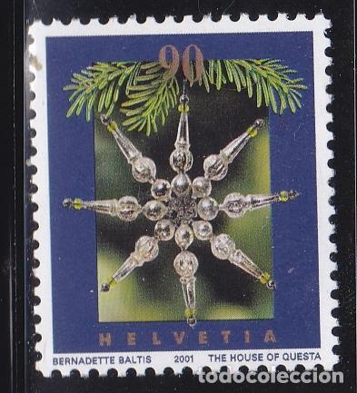 NAVIDAD409 SUIZA 2001 NUEVO ** MNH FACIAL (Sellos - Temáticas - Navidad)