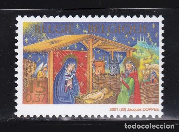 NAVIDAD414 BELGICA 2001 NUEVO ** MNH FACIAL (Sellos - Temáticas - Navidad)