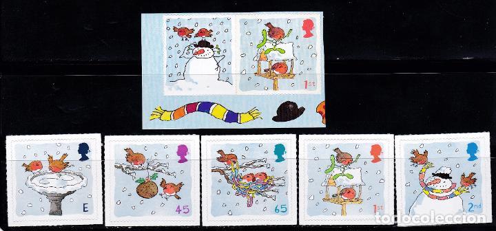 NAVIDAD434 INGLATERRA 2001 NUEVO ** MNH FACIAL (Sellos - Temáticas - Navidad)