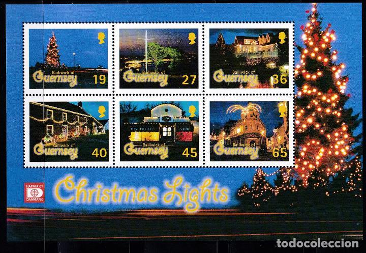 NAVIDAD431 GUERNSEY 2001 NUEVO ** MNH FACIAL + 50 % (Sellos - Temáticas - Navidad)