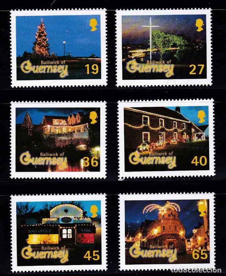 NAVIDAD432 GUERNSEY 2001 NUEVO ** MNH FACIAL (Sellos - Temáticas - Navidad)