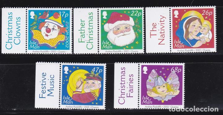 NAVIDAD436 ISLA MAN 2002 NUEVO ** MNH FACIAL (Sellos - Temáticas - Navidad)