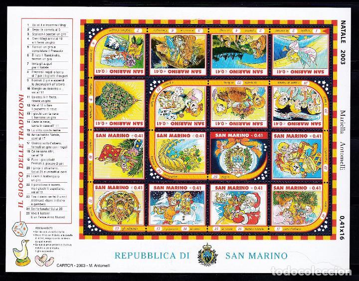 NAVIDAD469 SAN MARINO 2003 NUEVO ** MNH FACIAL (Sellos - Temáticas - Navidad)