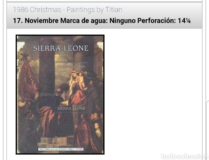 MINIHOJA SIERRA LEONE CHRISMAS 1986 (Sellos - Temáticas - Navidad)
