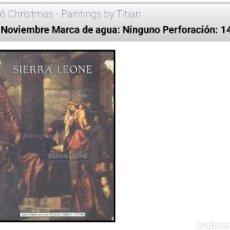 Sellos: MINIHOJA SIERRA LEONE CHRISMAS 1986. Lote 199424891