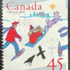 Sellos: 1996. CANADÁ. 1493. NAVIDAD. PRO-UNICEF. NUEVO.. Lote 201782077