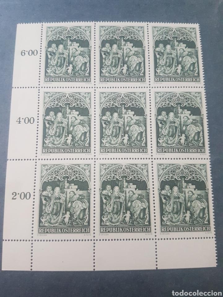 HOJA 9 SELLOS AUSTRIA 1967 SIN USAR NUEVOS (Sellos - Temáticas - Navidad)
