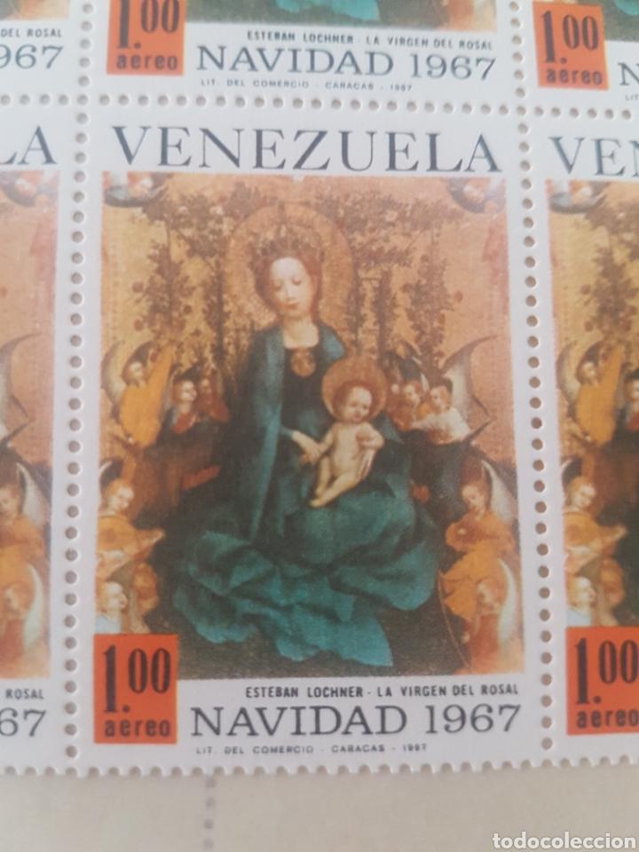 Sellos: Hoja 25 Sellos VENEZUELA NAVIDAD 1967. El estado es Nuevo. - Foto 2 - 202989028