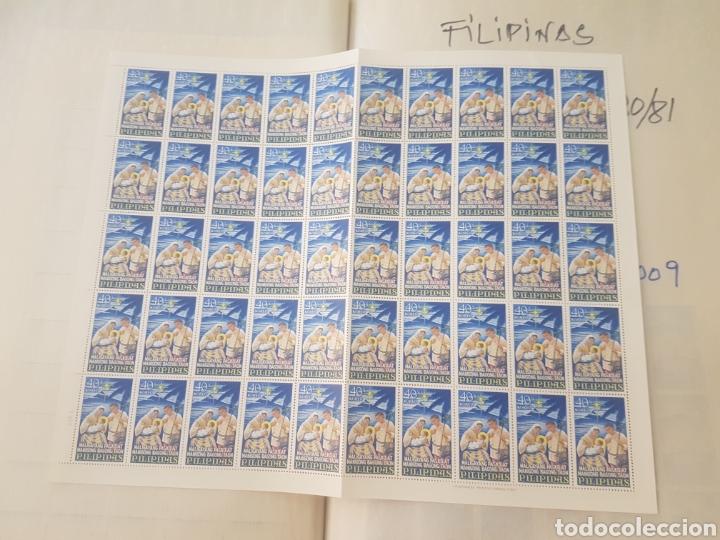 Sellos: 2 hojas Sellos Filipinas navidad 1967 nuevos total 100 sellos - Foto 2 - 202989500
