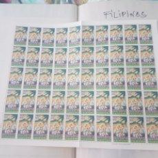 Sellos: 2 HOJAS SELLOS FILIPINAS NAVIDAD 1967 NUEVOS TOTAL 100 SELLOS. Lote 202989500