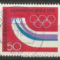 Sellos: ALEMANIA FEDERAL 1976 - MICHEL Nº 878 - OLIMPIADA 1976 DE CANADÁ / MONTREAL - USADO. Lote 204758828