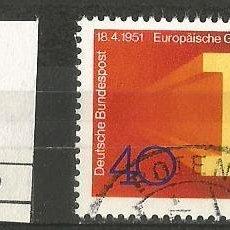 Sellos: ALEMANIA FEDERAL 1976 - MICHEL Nº 880 - 1951 COMUNIDAD EUROPEA DEL CARBÓN Y DEL ACERO - USADO. Lote 204759642