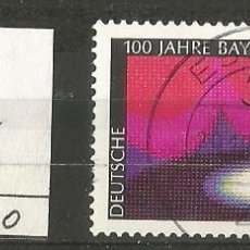 Sellos: ALEMANIA FEDERAL 1976 - MICHEL Nº 896 - 100 ANIV. DE FESTIVAL BAYREUTH - USADO. Lote 204769203