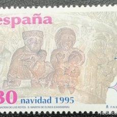 Sellos: 1995. ESPAÑA. 3402. NAVIDAD. ADORACIÓN REYES. COLEGIATA SAN MARTÍN DE ELINES. SERIE COMPLETA. NUEVO.. Lote 204977640