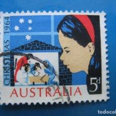 Sellos: +AUSTRALIA 1964, NAVIDAD, YVERT 307. Lote 205032530