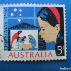 Sellos: +AUSTRALIA 1964, NAVIDAD, YVERT 307. Lote 205032672