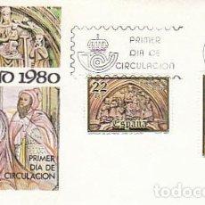 Sellos: EDIFIL 2593/4, NAVIDAD 1980 (LA CORUÑA), PRIMER DIA DE BARCELONA DEL 12-11-1980 SOBRE DEL SFC. Lote 205164237