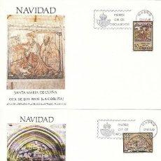 Sellos: EDIFIL 2593/4, NAVIDAD 1980 (LA CORUÑA), PRIMER DIA DE MADRID DE 12-11-1980 FLASH. Lote 205164643