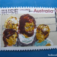 Sellos: +AUSTRALIA 1972, NAVIDAD, JESUS AMIGO DE LOS NIÑOS, YVERT 484. Lote 205174600