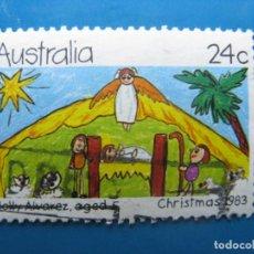Sellos: +AUSTRALIA 1983, NAVIDAD, YVERT 845. Lote 205313155