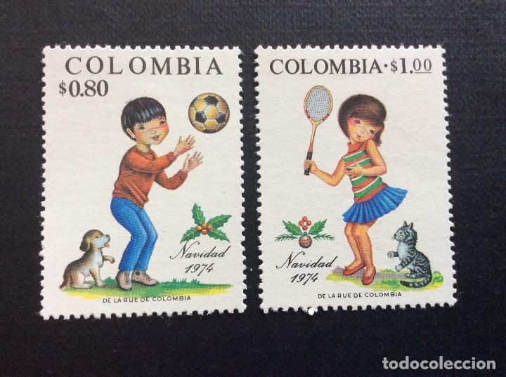 COLOMBIA Nº YVERT 678/9*** AÑO 1974. NAVIDAD (Sellos - Temáticas - Navidad)
