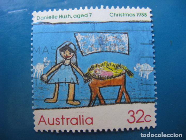 +AUSTRALIA 1988, NAVIDAD, YVERT 1103 (Sellos - Temáticas - Navidad)