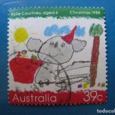 Sellos: +AUSTRALIA 1988, NAVIDAD, YVERT 1104. Lote 206310417