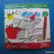 Sellos: +AUSTRALIA 1988, NAVIDAD, YVERT 1104. Lote 206310467