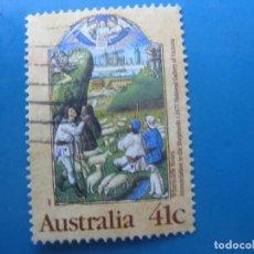 Sellos: +AUSTRALIA 1989, NAVIDAD, YVERT 1136. Lote 206385006