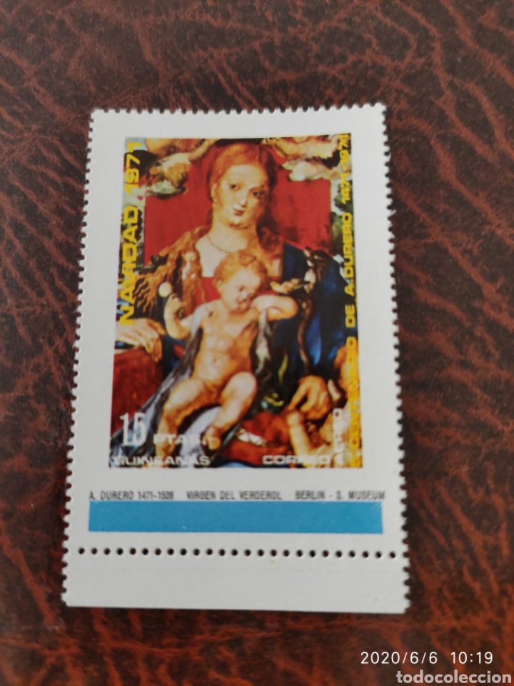 SELLO VIRGEN DEL VERDEROL 1971 (Sellos - Temáticas - Navidad)
