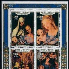 Sellos: AITUTAKI 1986 HB IVERT 66 *** NAVIDAD - PINTURA RELIGIOSA - CUADROD DE ALBERT DURERO. Lote 207537921