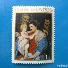 Sellos: +ISLAS COOK 1967, NAVIDAD, YVERT 166. Lote 208912631