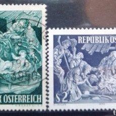 Sellos: AUSTRIA NAVIDAD SERIE DE SELLOS USADOS. Lote 209211255