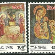 Sellos: ZAIRE 1987 IVERT 1244/7 *** NAVIDAD - OBRAS DE FRAY ANGÉLICO - PINTURA RELIGIOSA. Lote 212592480