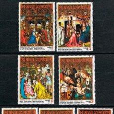 Sellos: GUINEA ECUATORIAL Nº 460, NAVIDAD 1973, PINTURAS, USADO SERIE COMPLETA. Lote 212636030