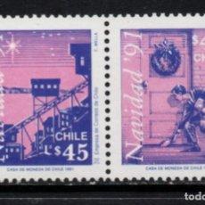 Sellos: CHILE 1082/83** - AÑO 1991 - NAVIDAD. Lote 213563241
