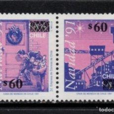 Sellos: CHILE 1131/32** - AÑO 1992 - NAVIDAD. Lote 213563590