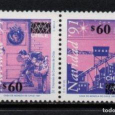 Sellos: CHILE 1133/34** - AÑO 1992 - NAVIDAD. Lote 213563705
