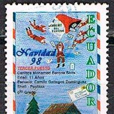Sellos: ECUADOR Nº 2473, NAVIDAD, CONCURSO INFANTIL, USADO. Lote 214474778