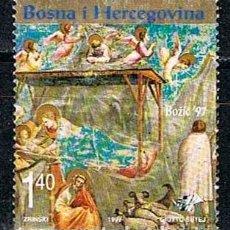 Sellos: BOSNIA HERZGOVINA, NAVIDAD 1997, USADO. Lote 214551747