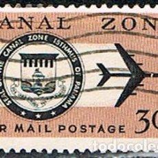 Sellos: CANAL DE PANAMA (ADIMINISTRACIONDE ESTADOS UNIDOS Nº 165, CORREO AEREO, USADO. Lote 214563468