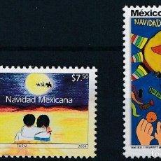 Sellos: MEXICO 2004 IVERT 2090/1 *** NAVIDAD - DIBUJOS INFANTILES. Lote 214697391