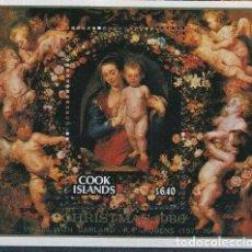 Sellos: COOK 1986 HB IVERT 173 *** NAVIDAD - LA VIRGEN EN LA GUIRNALDA - P.P. RUBENS - PINTURA. Lote 214731158