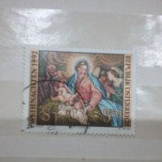 Selos: SELLOS AUSTRIA (OSTERREICH) MTDOS/1992/NAVIDAD/CONSTUMBRES/RELIGION/CREENCIAS/MADONNA/NACIMEINTO/VIR. Lote 216435993