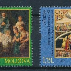 Sellos: MOLDAVIA 2012 IVERT 817/8 *** NAVIDAD - PINTURA RELIGIOSA. Lote 217924658