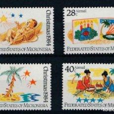 Sellos: MICRONESIA 1984 IVERT 25 Y AEREO 4/6 *** NAVIDAD - ESCENAS NAVIDEÑAS. Lote 218117937