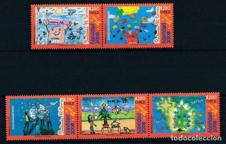 CHILE 2008 IVERT 1875/9 *** NAVIDAD - DIBUJOS INFANTILES (Sellos - Temáticas - Navidad)