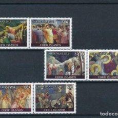 Sellos: COOK 2012 MICHEL 1774/9 *** NAVIDAD - ARTE - PINTURA - ESCENAS DE NAVIDAD. Lote 219093120